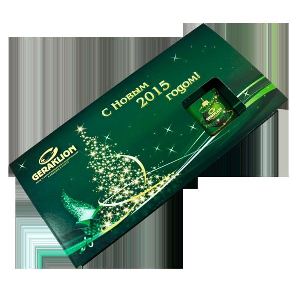 Открытка с шоколадкой