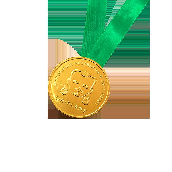 Шоколадные медали на ленте ORIFLAME