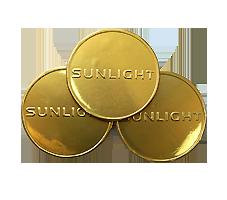 Шоколадные медали с логотипом SUNLIGHT