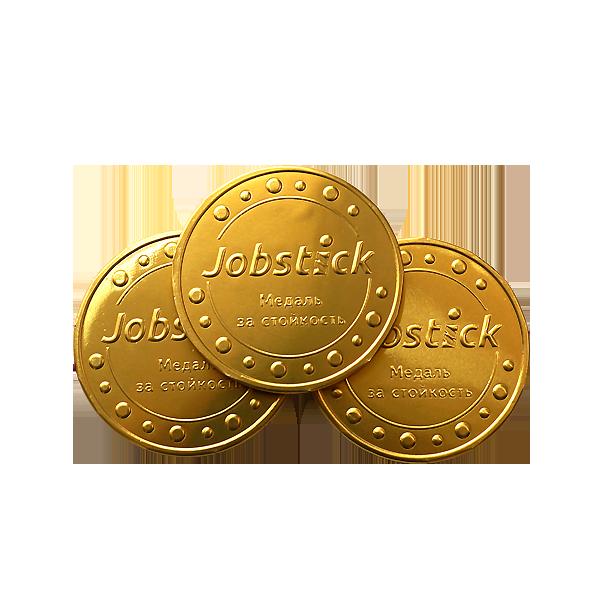 Шоколадные медали с логотипом Jobstick