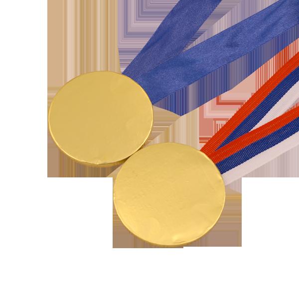 Шоколадные медали на ленте пустая