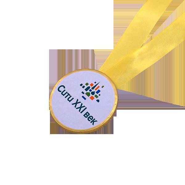 Шоколадные медали на ленте (наклейка)