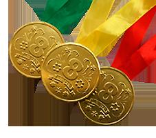 "Шоколадная медаль на ленте ""8 марта"""