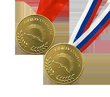 Шоколадная медаль на ленте выпускнику