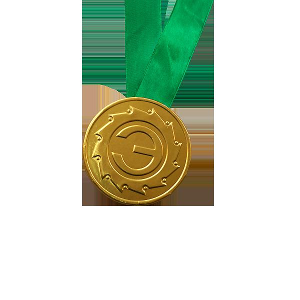 Шоколадные медали на ленте