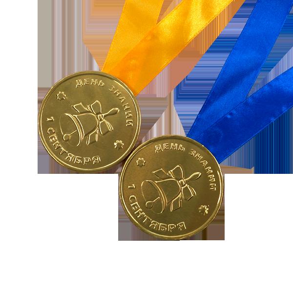 """Шоколадная медаль на ленте """"1 сентября"""""""